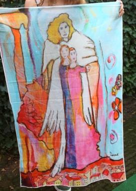 *Sjaal Levensloop 2 (125x83 cm) (verkocht)