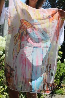 *Sjaal Ontmoeting met Maria (100x72 cm) (niet meer beschikbaar)