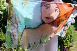 Sjaal Vrouw (Zielenfamilie) 108x75 cm
