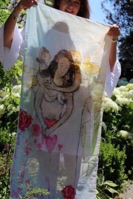 *Sjaal Roses (verkocht)