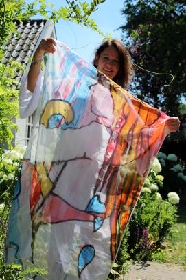 Sjaal Watermeester 130x90 cm