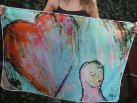 Sjaal Hart (Zielenfamilie) 108x75 cm