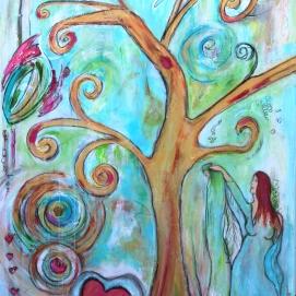 Tweeluik (Buddha&) Levensboom in opdracht